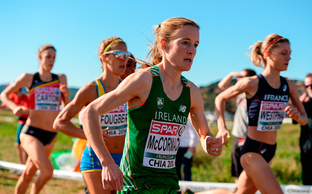 Fionnuala McCormack in action during the European Cross Country Championships in Chia, Italy. Photo: Sportsfile