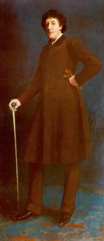 The full-length portrait of Oscar Wilde will go on display in Britain next year. Photo: Tate Britain