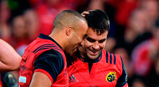 Good form: Simon Zebo, left, and Conor Murray. Photo: Sportsfile
