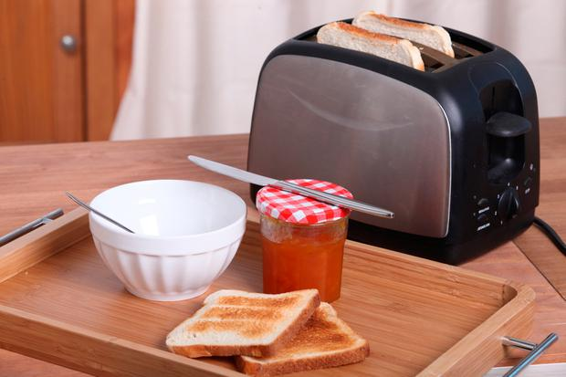 Post-operative patients are welcomed back to consciousness with two freshly made slices of toast. Stock Image