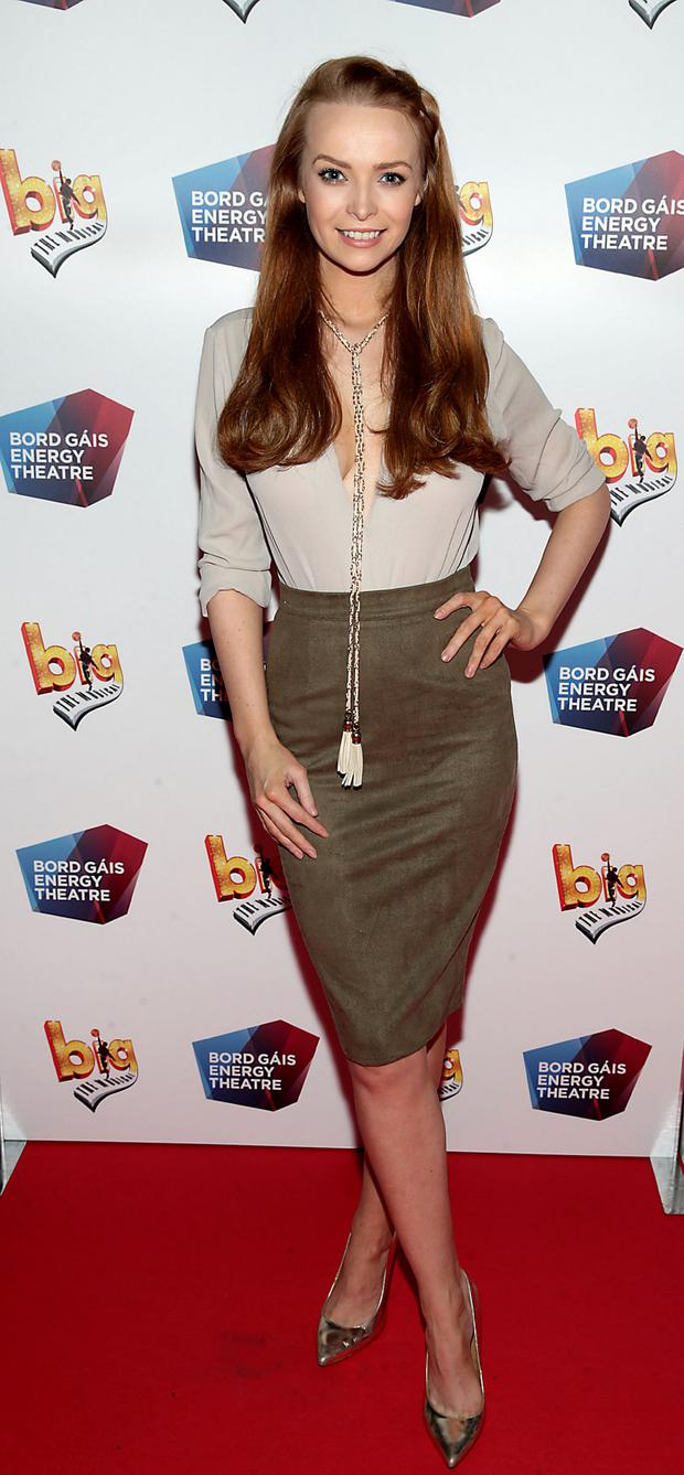 Model Aoife Walsh at the European premiere of BIG the Musical at the Bord Gais Energy Theatre,Dublin. Picture: Brian McEvoy