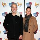 Baz Ashmawy and Tanya Evans at the European premiere of BIG the Musical at the Bord Gais Energy Theatre,Dublin. Picture: Brian McEvoy
