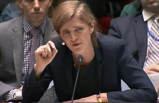 US Ambassador Samantha Power addressed the UN security council