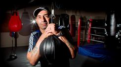 Pete Taylor has opened a new boxing themed café Photo: David Conachy