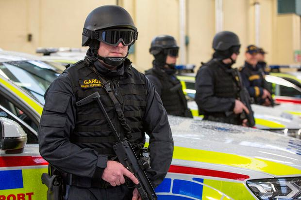 Members of the new Armed Support Unit (ASU) at Garda Headquarters. Pic:Mark Condren
