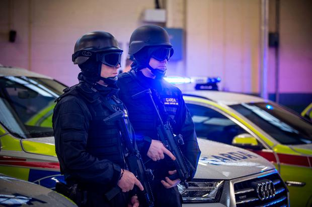 Members of the new Armed Support Unit (ASU) at Garda Headquarters. Pic:Mark Condren 14.12.2016