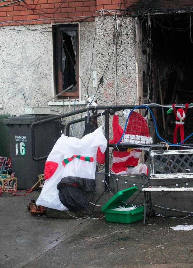14/12/2016 The house which was involved in a fire at Ballyogan Crescent in Carrickmines, Dublin. Photo: Gareth Chaney Collins