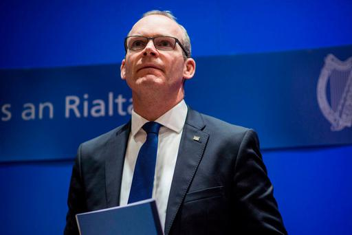 Minister Simon Coveney presents his Action Plan for Housing and Homelessness. Photo: Doug O'Connor