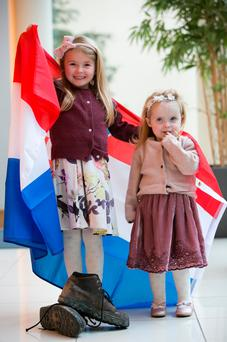 Two youngsters at the launch of the Cystic Fibrosis Ireland (CFI) International Walk in October. Photo: Shane O'Neill