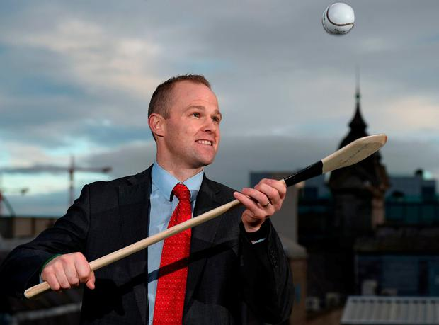 Speaking at the launch of the 'Leadership in Sport, Lessons for Business' Networking event to be held on January 26, with proceeds going towards the creation of a National Centre of Excellence for Hurling in St Kieran's College. Photo: Cody Glenn/Sportsfile