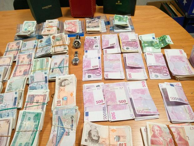 Cash seized in raids by Criminal Assets Bureau officers