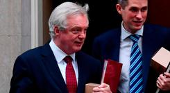 """Mr Davis told the House of Commons Exiting the EU Committee that the government was """"determined"""" to keep an open border, with no fences and no checkpoints. Photo: AFP/Getty Images"""