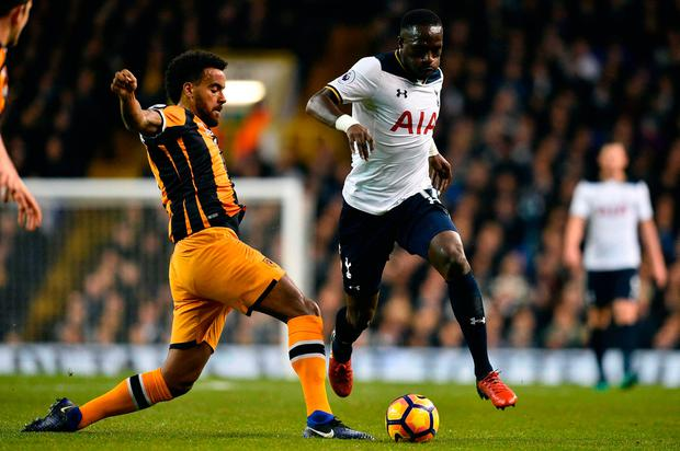 Hull City's midfielder Tom Huddlestone (L) vies with Moussa Sissoko Picture: Getty