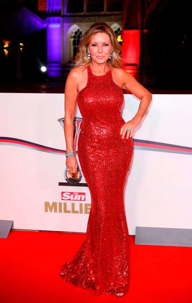 Carol Vorderman attends The Sun Military Awards at The Guildhall on December 14, 2016 in London, England. (Photo by Tim P. Whitby/Getty Images)