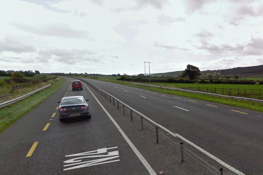 The N24 between Mooncoin and Carrick-on-Suir dubbed the 'valley of death'. Source Google Maps.