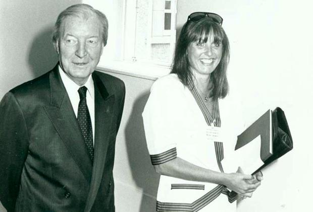 Gillian Bowler pictured with Charlie Haughey