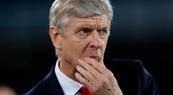 Arsene Wenger has plenty to think about after Arsenal's defeat at Everton. Photo: Carl Recine/Action Images via Reuters