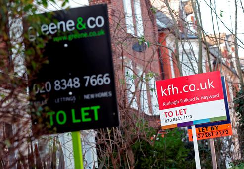 There are major questions surrounding the fairness of the measures proposed, particularly as many areas across the country have seen rent hikes of 7pc or more in four of the last quarters, meeting one of the two criteria to be designated as 'rent pressure zones'. Photo: PA Wire