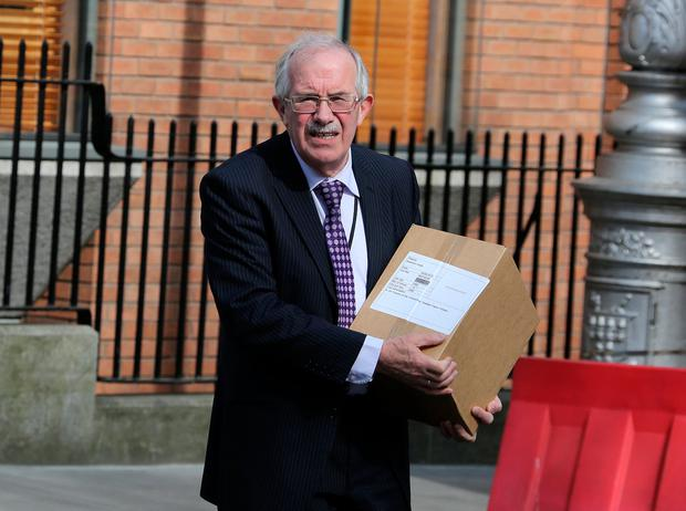 Seamus Healy,Independent deputy for Tipperary at Leinster House .Pic Tom Burke