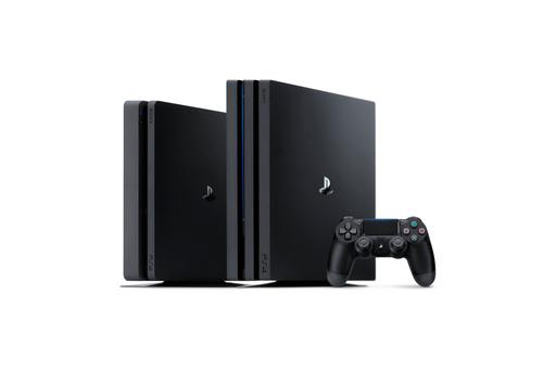 The PS4 Pro (right) alongside the PS4 Slim