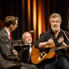Glen Hansard on The Late Late Show with host Ryan Tubridy. Image: RTE