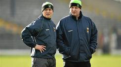 Former joint Mayo managers Pat Holmes, left, and Noel Connelly