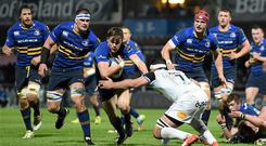 Garry Ringrose in action during Leinster's win against Bath in January, a game that proved a catalyst for improvement. Picture credit: Ramsey Cardy / SPORTSFILE