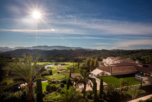 Room with a view: Looking out from the clubhouse at Royal Mougins Golf Resort on the Cote d'Azur
