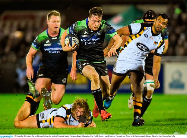 Jack Carty of Connacht in action against Wasps