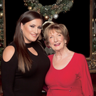 Elaine Crowley pictured with her mum, Mary V. Photo: Kip Carroll
