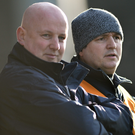 Former Mayo joint managers Noel Connelly (right) and Pat Holmes. Photo: Sportsfile