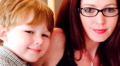 DEVASTATING: The bodies of Oisin O'Driscoll (7) and his mother Sinead Higgins (37) were found at their home in Ruislip, West London, last Wednesday morning