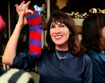 ON A MISSION: Victoria Mary Clarke shopping for socks at Kiwi Country Clothing on South Anne Street, Dublin. Photo: Steve Humphreys
