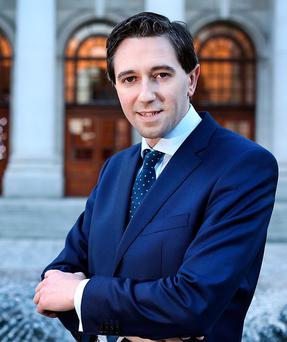 Busy: Minister for Health Simon Harris, standing outside Government Buildings, wants HSE managers to show 'hope and positivity' when communicating what they do in an effort to encourage people to work in the sector and have faith in it. Photo: Steve Humphreys