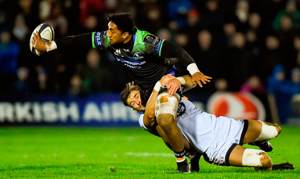 Bundee Aki of Connacht is out until mid-February