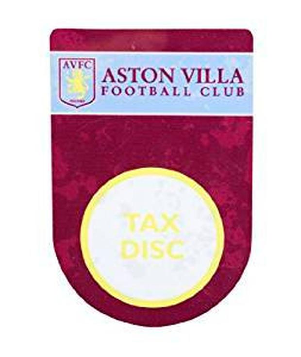 Aston Villa tax disc holder