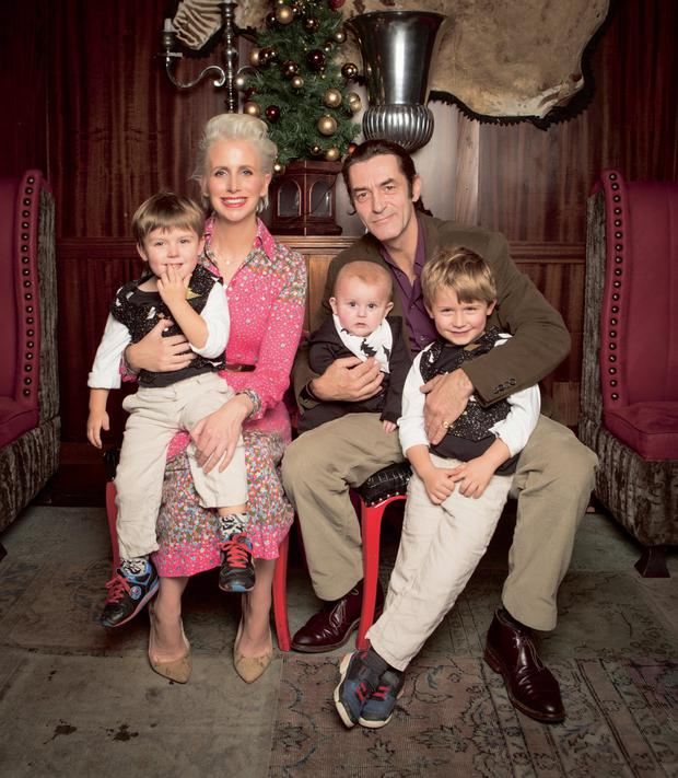 Aisling O'Loughlin pictured with Nick MacInnes, and their sons Louis (three), Joseph (seven months) and Patrick (five)