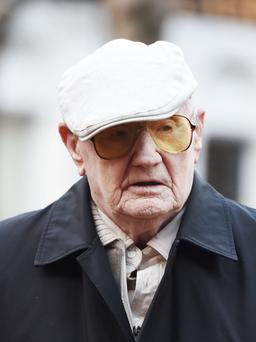 File photo of retired lorry driver Ralph Clarke, aged 101, arriving at Court. Photo Joe Giddens/PA Wire
