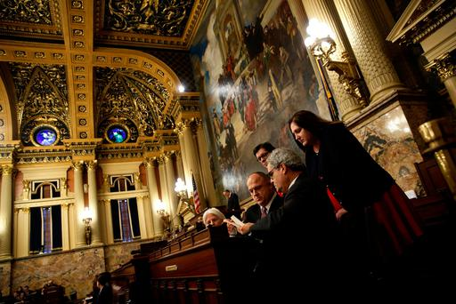 Electoral college tellers count the ballots Pennsylvania electors cast for U.S. President-elect Donald Trump at the Pennsylvania State Capitol in Harrisburg, Pennsylvania. (Photo: Reuters/Jonathan Ernst)
