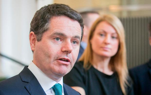 Mr Donohoe said that, regardless of the outcome, there was 'no prospect' of the State getting 'a gigantic' windfall. Photo: Gareth Chaney Collins