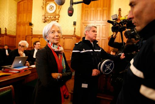 IMF managing director Christine Lagarde at the Palais de Justice in Paris during her trial. Photo: REUTERS/Charles Platiau/File photo