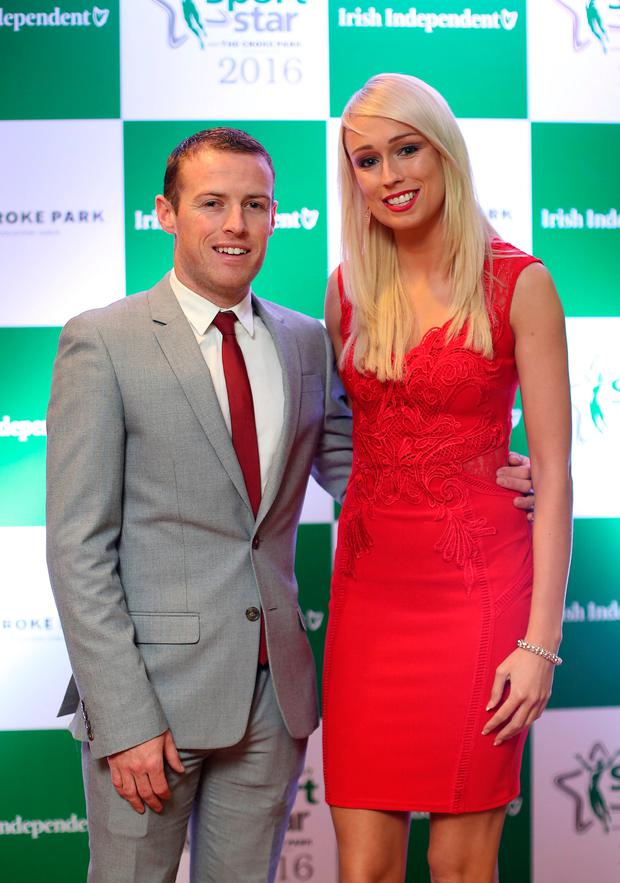 Stephanie Roche and boyfriend Dean Zambra at the awards. Photo: Frank McGrath