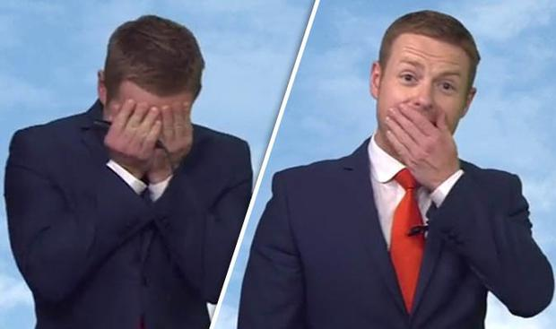 BBC weather presenter Tomasz Schafernaker struggled to get through his Shipping Forecast on Radio 4... before giving up completely.