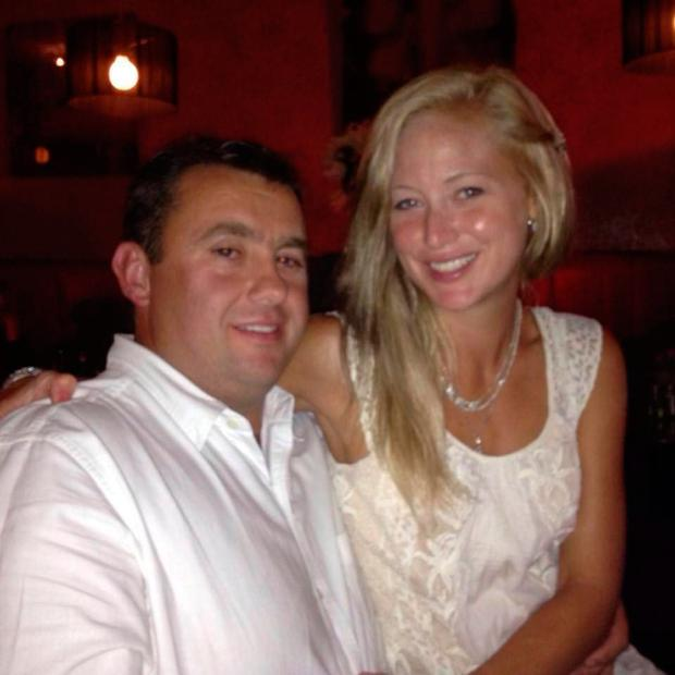 Molly Martens with her late husband, Jason Corbett.