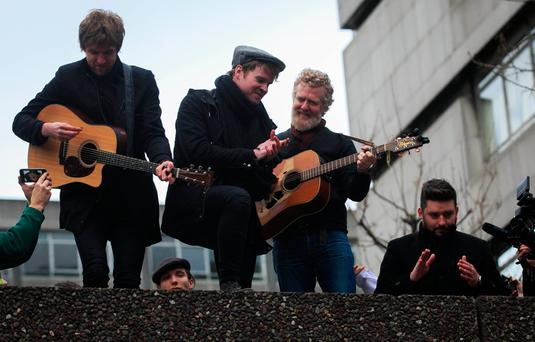 Kodaline perform with Glen Hansard at Apollo House in Dublin. Photo: Gareth Chaney Collins