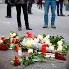 Flowers at the scene of the attack on the Berlin Christmas market Picture: Reuters