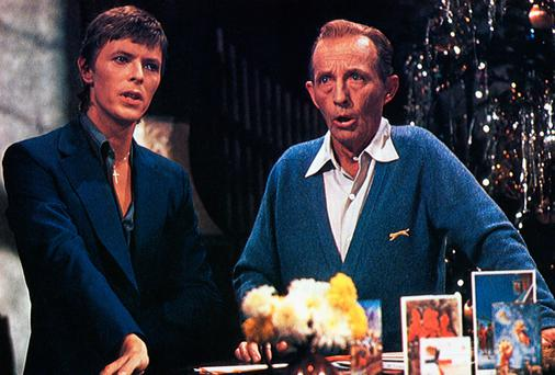 David Bowie with Bing Crosby, performing Little Drummer Boy