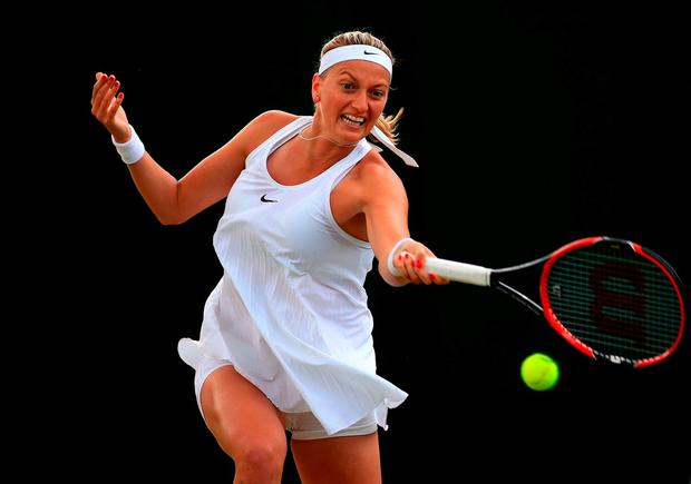 Petra Kvitova in action at Wimbledon earlier this year. Photo: Adam Davy/PA Wire