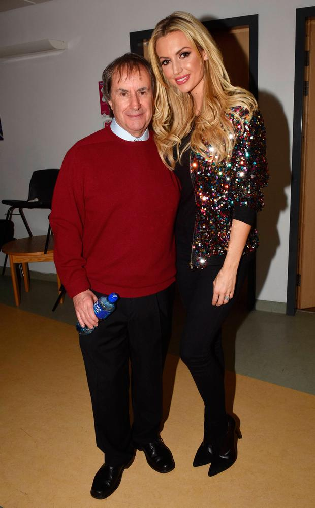 Chris de Burgh and Rosanna Davison at the annual Christmas Ward Walk at Our Lady's Hospital for Sick Children, Dublin