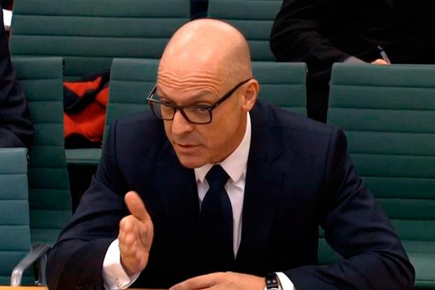 General Manager of Team Sky David Brailsford gives evidence to the Culture, Media and Sport select committee